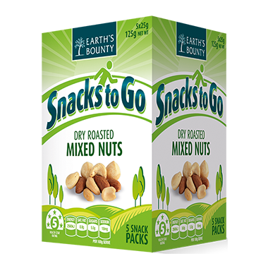 Snacks to Go - Dry Roasted Mixed Nuts